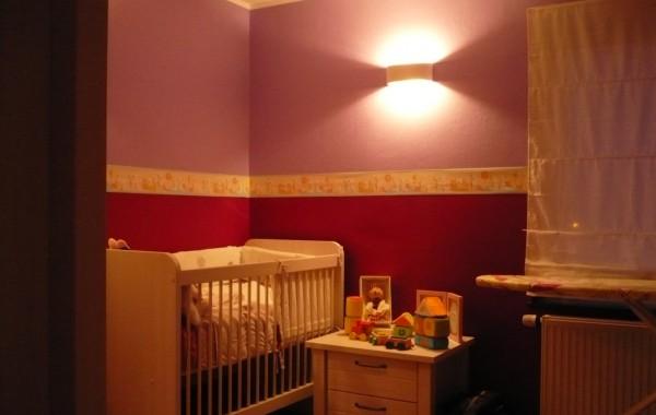 Chambre enfant, luminaire, peintures, mobilier, construction maison, Virton, Province Luxembourg, Belgique