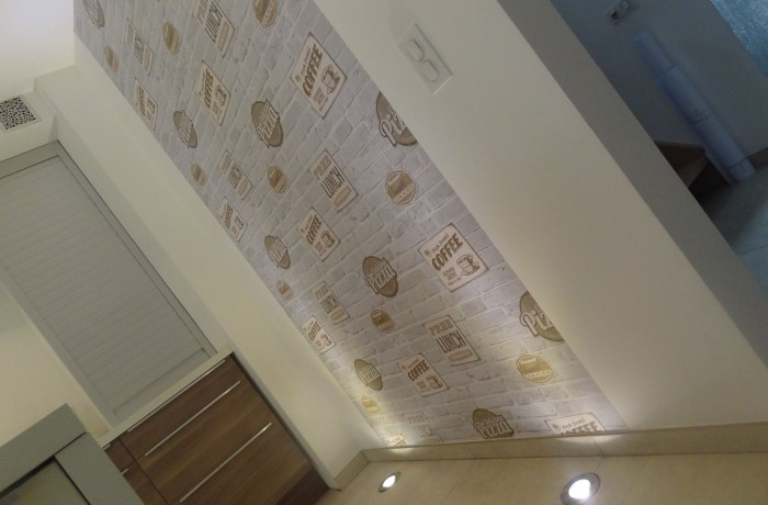 Cuisine, décoration, tapisserie, luminaires, inspiration, construction maison, Chenois, Province Luxembourg, Belgique
