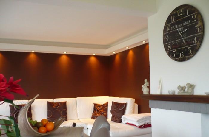 Salon, luminaires, mobilier, inspiration, décoration, construction maison, Virton, Province Luxembourg, Belgique