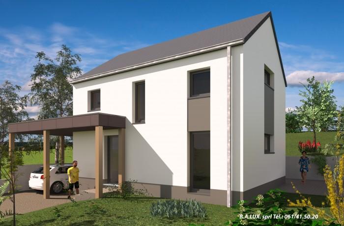 Maison unifamiliale à Willancourt (Vue avant), 3 chambres, Province Luxembourg, Belgique